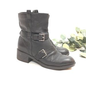 COLE HAAN | NIKE womens Moto boots leather black